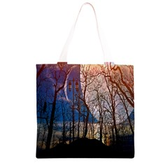Full Moon Forest Night Darkness Grocery Light Tote Bag