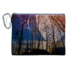 Full Moon Forest Night Darkness Canvas Cosmetic Bag (XXL)