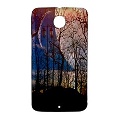 Full Moon Forest Night Darkness Nexus 6 Case (White)