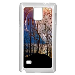 Full Moon Forest Night Darkness Samsung Galaxy Note 4 Case (White)