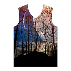 Full Moon Forest Night Darkness Men s Basketball Tank Top