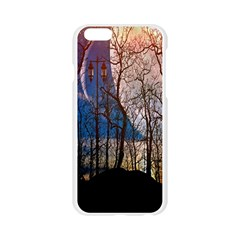 Full Moon Forest Night Darkness Apple Seamless iPhone 6/6S Case (Transparent)