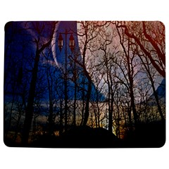Full Moon Forest Night Darkness Jigsaw Puzzle Photo Stand (Rectangular)
