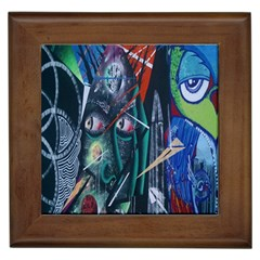 Graffiti Art Urban Design Paint  Framed Tiles