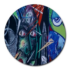 Graffiti Art Urban Design Paint  Round Mousepads