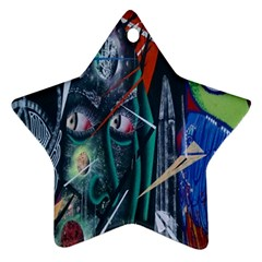 Graffiti Art Urban Design Paint  Ornament (Star)