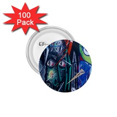 Graffiti Art Urban Design Paint  1.75  Buttons (100 pack)