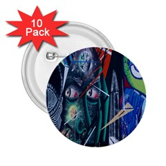 Graffiti Art Urban Design Paint  2.25  Buttons (10 pack)