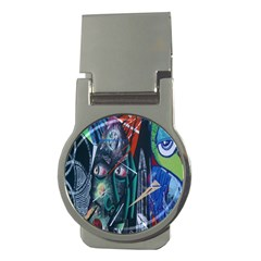 Graffiti Art Urban Design Paint  Money Clips (Round)