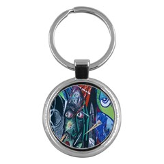 Graffiti Art Urban Design Paint  Key Chains (Round)