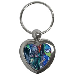 Graffiti Art Urban Design Paint  Key Chains (Heart)