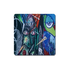 Graffiti Art Urban Design Paint  Square Magnet
