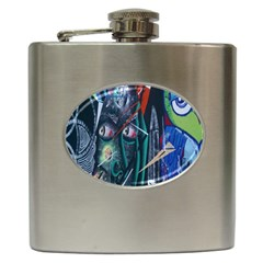 Graffiti Art Urban Design Paint  Hip Flask (6 oz)