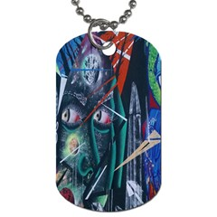 Graffiti Art Urban Design Paint  Dog Tag (Two Sides)