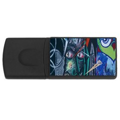 Graffiti Art Urban Design Paint  USB Flash Drive Rectangular (1 GB)
