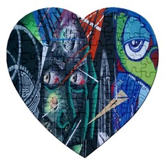 Graffiti Art Urban Design Paint  Jigsaw Puzzle (Heart)