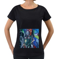 Graffiti Art Urban Design Paint  Women s Loose-Fit T-Shirt (Black)