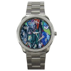 Graffiti Art Urban Design Paint  Sport Metal Watch