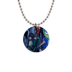 Graffiti Art Urban Design Paint  Button Necklaces