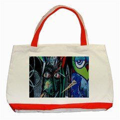 Graffiti Art Urban Design Paint  Classic Tote Bag (Red)