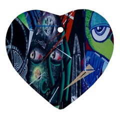 Graffiti Art Urban Design Paint  Heart Ornament (2 Sides)