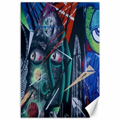 Graffiti Art Urban Design Paint  Canvas 12  x 18