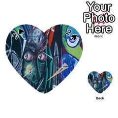 Graffiti Art Urban Design Paint  Playing Cards 54 (Heart)