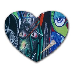Graffiti Art Urban Design Paint  Heart Mousepads