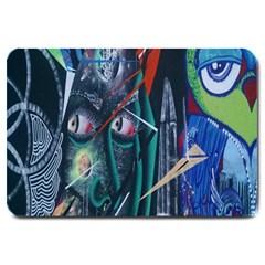 Graffiti Art Urban Design Paint  Large Doormat