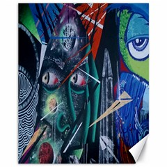 Graffiti Art Urban Design Paint  Canvas 11  x 14