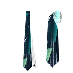 Graffiti Art Urban Design Paint  Neckties (One Side)
