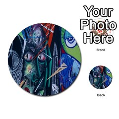 Graffiti Art Urban Design Paint  Multi-purpose Cards (Round)