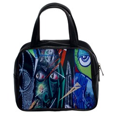 Graffiti Art Urban Design Paint  Classic Handbags (2 Sides)
