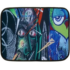 Graffiti Art Urban Design Paint  Fleece Blanket (Mini)