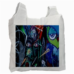 Graffiti Art Urban Design Paint  Recycle Bag (Two Side)