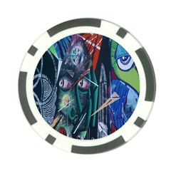 Graffiti Art Urban Design Paint  Poker Chip Card Guards (10 pack)