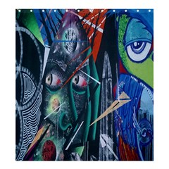 Graffiti Art Urban Design Paint  Shower Curtain 66  x 72  (Large)