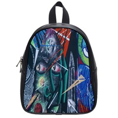Graffiti Art Urban Design Paint  School Bags (Small)