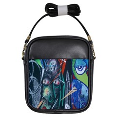 Graffiti Art Urban Design Paint  Girls Sling Bags