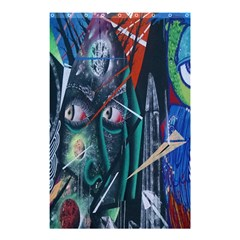 Graffiti Art Urban Design Paint  Shower Curtain 48  x 72  (Small)