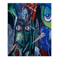 Graffiti Art Urban Design Paint  Shower Curtain 60  x 72  (Medium)