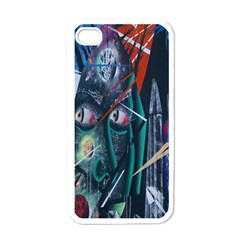 Graffiti Art Urban Design Paint  Apple iPhone 4 Case (White)