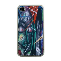 Graffiti Art Urban Design Paint  Apple iPhone 4 Case (Clear)