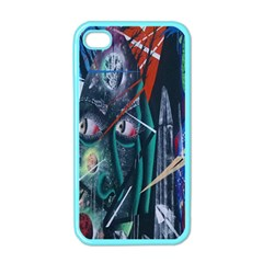 Graffiti Art Urban Design Paint  Apple iPhone 4 Case (Color)