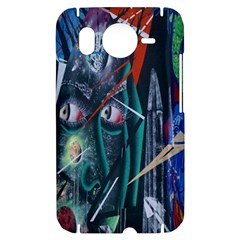 Graffiti Art Urban Design Paint  HTC Desire HD Hardshell Case