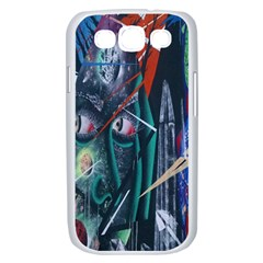 Graffiti Art Urban Design Paint  Samsung Galaxy S III Case (White)