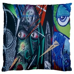 Graffiti Art Urban Design Paint  Large Cushion Case (Two Sides)