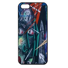 Graffiti Art Urban Design Paint  Apple iPhone 5 Seamless Case (Black)