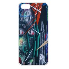 Graffiti Art Urban Design Paint  Apple iPhone 5 Seamless Case (White)