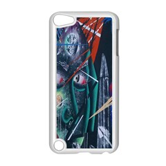 Graffiti Art Urban Design Paint  Apple iPod Touch 5 Case (White)
